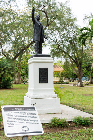 silva: Manuel Ramon Silva monument . Statue of Cuban doctor fighting against imperialistic ideals. Editorial