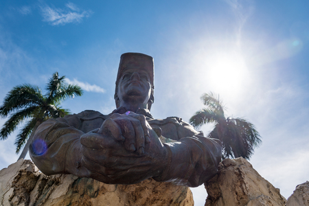 omar: Omar Torrijos monument found at Havana city: Statue depicting president of Panama holding both hands together.