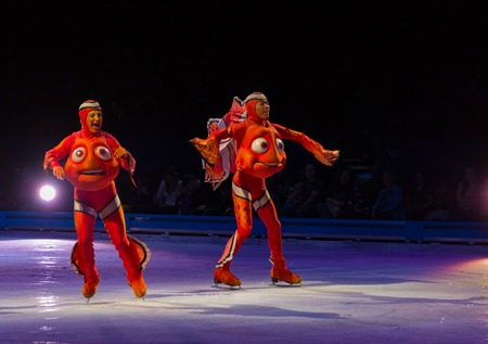 nemo: Scenes from Nemo: Disney on Ice celebrates 100 hundred years of magic. The famous Disney characters and stories are brought to life with the artistry of ice skating to create an unforgettable family experience.