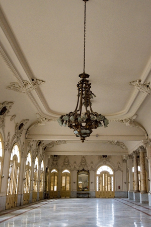 majority: National theater Alicia Alonso interior luxurious architectural details. The landmark is a major tourist attraction made of white marble in its great majority. Editorial
