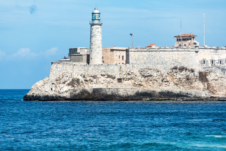 spaniards: Lighthouse at Morro Castle looking out to the beautiful blue sea.