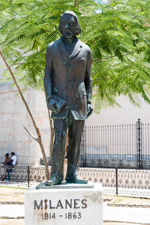 linguist: Jos� Jacinto Milan�s y Fuentes  statue, a self-educated and from humble origins, was a renowned poet, linguist and writer who has been acclaimed as one of the best exponents of Cuban literature Editorial