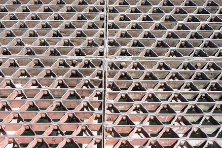 concordia: Concordia bridge vintage metal architectural designed floor. Stock Photo