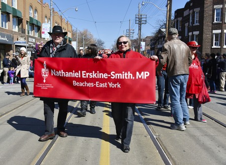 Delegation: Delegation of Nathaniel Erskine - Smith in the Lions Club Easter parade which celebrates its 50th anniversary
