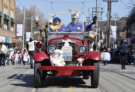 notorious: Old car vehicle in the Lions Club Easter parade which celebrates its 50th anniversary Editorial