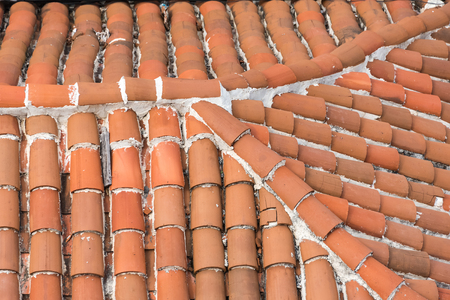 extreme heat: Vintage Colonial house with tiled roof: tiled roofs in Cuba are a practical option since the tropical island suffers from extreme heat waves. Editorial