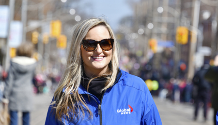 notorious: Christina Stevens, broadcast journalist for Globe News, is the Grand Marshal in the Lions Club Easter parade which celebrates its 50th anniversary Editorial