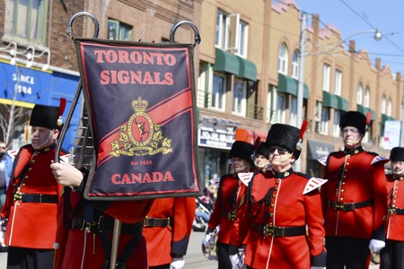 notorious: Toronto Signal Regiment in the Lions Club Easter parade which celebrates its 50th anniversary