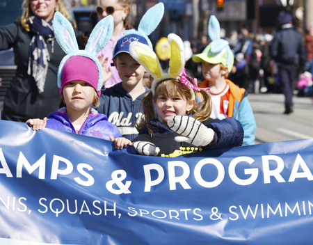 notorious: Toronto 2016 Beaches Lions Club Easter Parade celebrates 50th anniversary in the Queen Street East during Easter Sunday Editorial