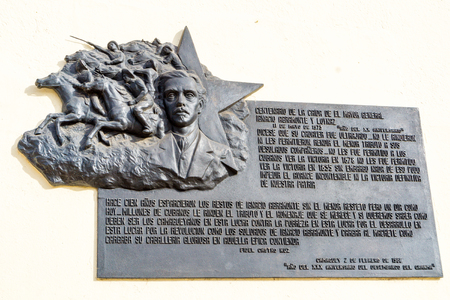 memorial plaque: Ignacio Agramonte memorial plaque. Ignacio Agramonte y Loyn�z was a Cuban revolutionary, who played an important part in the Ten Years War Editorial