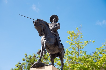 Ignacio Agramonte bronze statue in plaza which carries his name. Ignacio Agramonte y Loyn�z was a Cuban revolutionary, who played an important part in the Ten Years War (1868�1878).