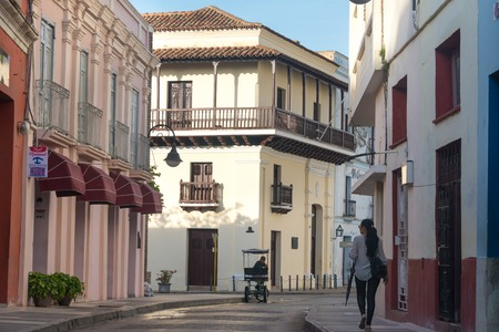 Ignacio Agramonte natal house (center). Colonial architecture is a tourist attraction.