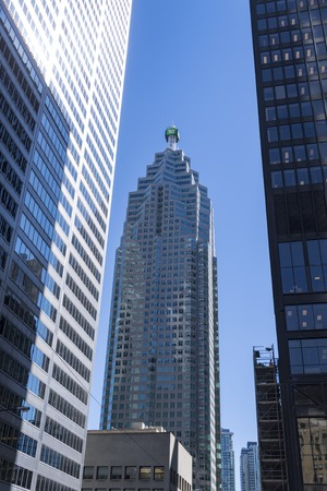 td: TD Bank high rise building along with other high rise buildings. The concrete jungle downtown Toronto