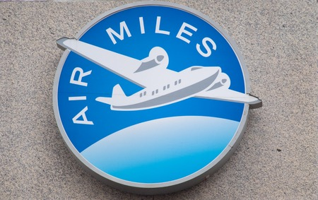 Air Miles rewards plan or logo in the wall of the Toronto headquarters. The company has endured pressure for new measures regarding the accumulated points by customers. Redakční