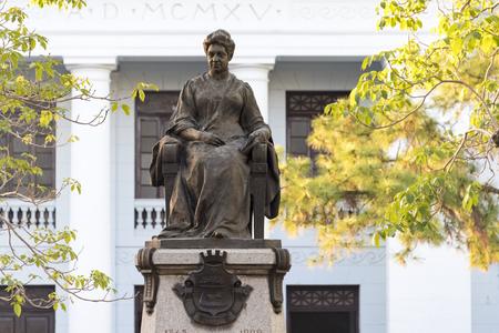 marta: Marta Abreu bronze statue in the Leoncio Vidal plaza or town square. She was a main city benefactor at the end of the XIX century