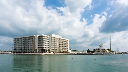 varadero: Melia Marina Apartments, an extended stay hotel, seen from Marina Las Morlas which is a popular recreation landmark in the resort town is operated by Gaviota Corp. Editorial