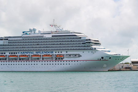 Carnival Splendor cruise ship at the city terminal. It is the sole ship of the Splendor class, a smaller, modified version of the Concordia-class and it is operated by Costa Crociere S.p.A Editorial