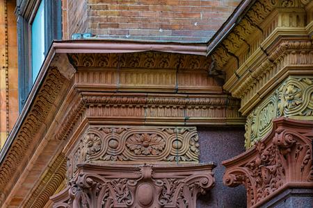 Detalhe arquitectónico do edifício de Hudson Bay Company na rainha Street West. Foto de archivo - 91389538