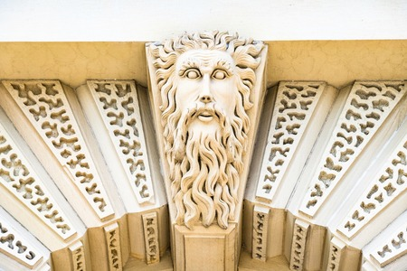 Father Time sculpture above the entrance to the Don Jail at Bridgepoint Health