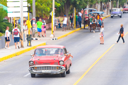 Cuba: Old obsolete cars driving. The island is known for the diversity of vintage cars still driving. They have become a tourist attraction.