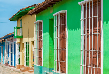 Colonial Houses. Trinidad is a town in the province of Sancti Sp�ritus, central Cuba.