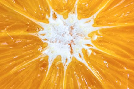Close up  macro detail of a sweet orange fruit. 写真素材