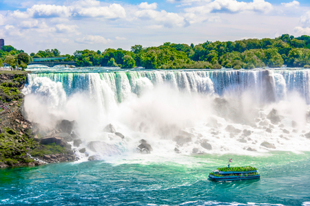 Hornblower cruise operating in the Niagara Falls which is an internationally known tourist attraction