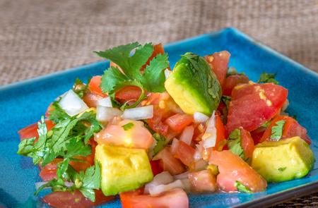 Pico de Gallo salad, Mexican dish 版權商用圖片