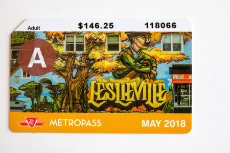 TTC metropass belonging to May of 2018. The Toronto Transit Commission is changing to the Presto Card system starting on January 2019