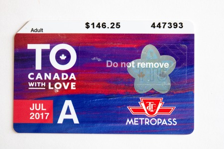 TTC metropass belonging to July 2017 . The Toronto Transit Commission is changing to the Presto Card system starting on January 2019