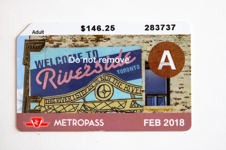 TTC metropass belonging to February of 2016. The Toronto Transit Commission is changing to the Presto Card system starting on January 2019