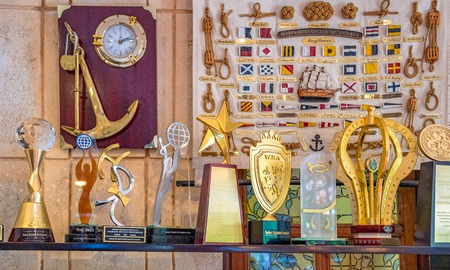 Awards and medals received by Salsa Suarez restaurant or paladar. Interior view of the famous private small business