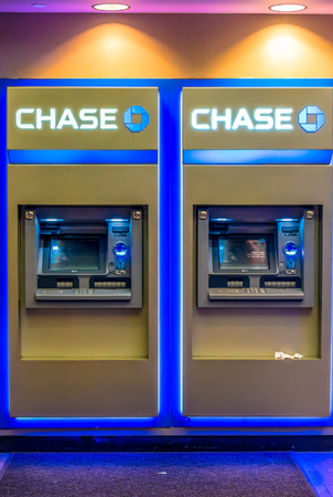 Chase bank ATMs or automated teller machines in New York City. These days ATMs provide a host of services apart from dispensing cash. 