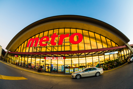 Metro grocery shopping store. Metro Inc. is a food retailer operating in the Canadian provinces of Quebec and Ontario. Metro is the third largest grocer in Canada