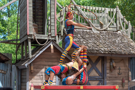 The Georgia Renaissance Festival. The famous event brings a 16th-century European country fair to the Atlanta area. It lasts for 8 weeks and it is an important tradition and tourist attraction in the North American city. Editorial