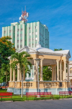 Leoncio Vidal Plaza in Santa, Cuba. All the area is a Cuban National Monument for the architecture and the historic battle commanded by Che Guevara.