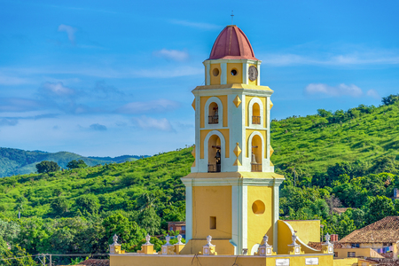Tower of St. Francis of Assisi Convent and Church, Trinidad, Cuba Editorial