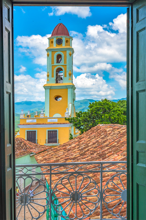Cuba tourism: Tower of St. Francis of Assisi Convent and Church, Trinidad, Cuba  The tower is located in the town Main Plaza and houses houses the Museum of the Fight against Bandits