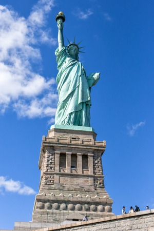 New York city, USA, Statue of Liberty, popularly known as the Green Lady. The color green is the result of the oxidation of copper which is the main material in the statue Editorial