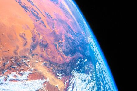 Over Algeria. The beauty in nature of our planet Earth seen from the International Space Station
