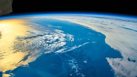 Over the South part of Chili. The beauty in nature of our planet Earth seen from the International Space Station