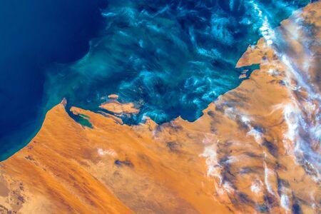 The coast of Mauritania.