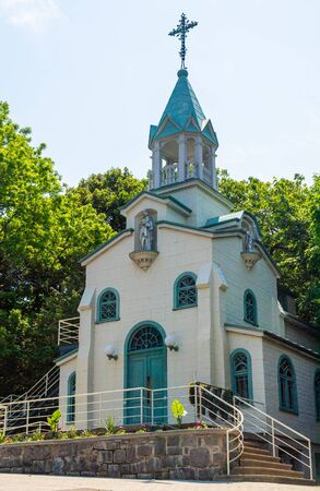 Montreal, Quebec, Canada-June 10, 2019: The Chapel of Brother Andre (Bessette). This small building gave place to the construction of the St. Joseph Oratory which is a major tourist attraction in the city. Редакционное