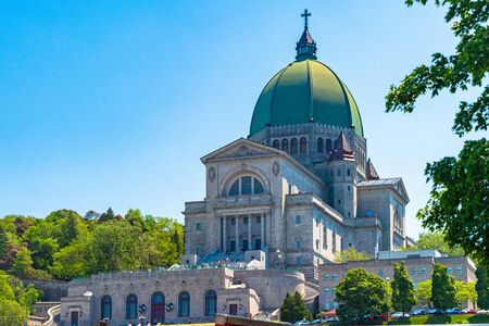 Montreal, Quebec, Canada-June 11, 2017: The Saint Joseph Oratory which is the largest Catholic Church in Canada. The building is a minor basilica and national shrine located on Mount Royals Westmount Summit Редакционное