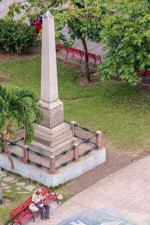 Monument to father Juan Martin Conyedo a humanist priest in the colonial era in Cuba