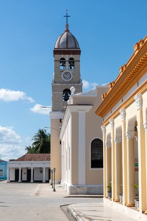 The National Hymn plaza which is a National Monument in the city named 'Bayamo' in Cuba Stock Photo