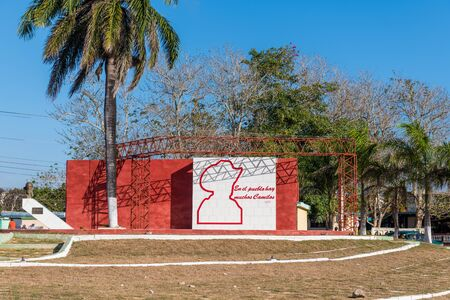 Ciego de Avila, Cuba-March 12, 2020: The Camilo Cienfuegos revolution square which is a local monument and a famous tourist attraction in the Cuban city