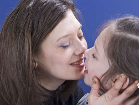 conversation with smiling between mother and daughter  Stock Photo - 885090