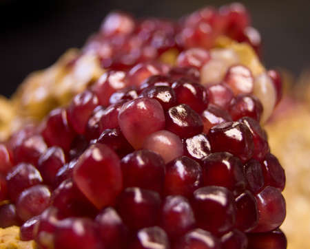 closeup: seeds of pomegranate macro with texture photo