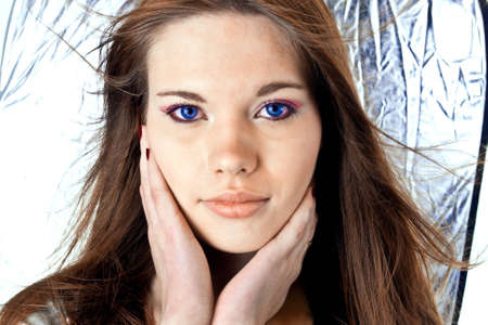 pretty attractive girl with blue eyes Stock Photo - 12573961